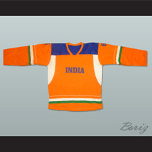 India National Team Orange Hockey Jersey Any Player or Number