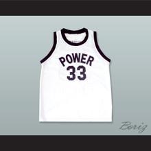 Lew Alcindor Jr 33 Power Memorial Academy White Basketball Jersey