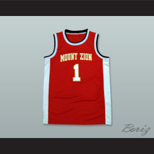 Tracy McGrady 1 Mount Zion Christian Academy Maroon Basketball Jersey