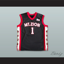 342899545 Tracy McGrady 1 Mount Zion Christian Academy Black Basketball Jersey
