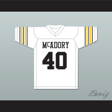 Bo Jackson 40 McAdory High School Yellow Jackets White Football Jersey