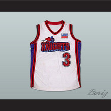 Calvin Cambridge 3 Los Angeles Knights White Basketball Jersey with Like Mike Patch