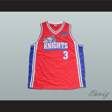 Calvin Cambridge 3 Los Angeles Knights Red Basketball Jersey with Like Mike Patch