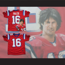 Keanu Reeves Shane Falco 16 Sentinels Airbrush Portrait Football Jersey