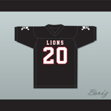 CJ Reavis 20 EMCC Lions Black Football Jersey Includes Patches