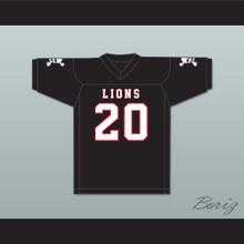 CJ Reavis 20 EMCC Lions Black Football Jersey Includes Patches