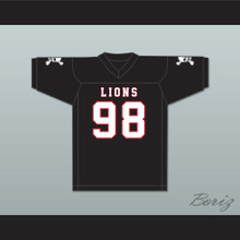 Gary McCrae 98 EMCC Lions Black Football Jersey Includes Patches