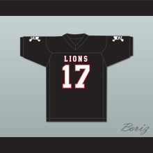Isiah Wright 17 EMCC Lions Black Football Jersey Includes Patches