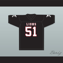 James Davis 51 EMCC Lions Black Football Jersey Includes Patches