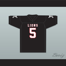 John Franklin 5  EMCC Lions Black Football Jersey Includes Patches
