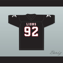 Marcel Andry 92 EMCC Lions Black Football Jersey Includes Patches