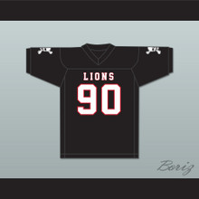 Ronald Ollie 90 EMCC Lions Black Football Jersey Includes Patches