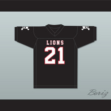 Ryan Lee 21 EMCC Lions Black Football Jersey Includes Patches