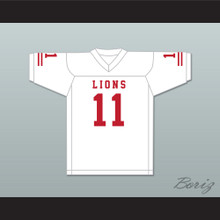 Chad Kelly 11 EMCC Lions White Football Jersey