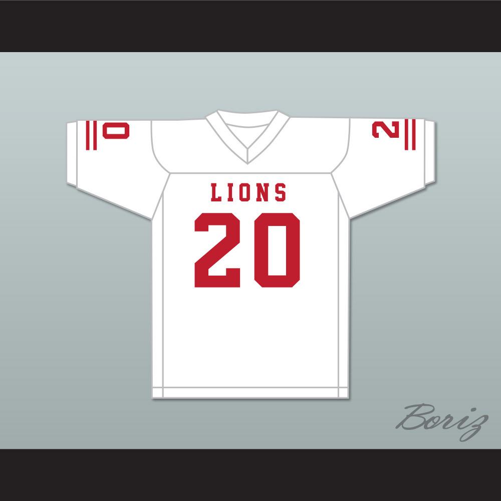 new style ff27d 0b7fa CJ Reavis 20 EMCC Lions White Football Jersey
