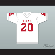 CJ Reavis 20 EMCC Lions White Football Jersey