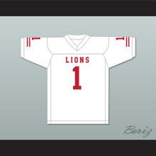DJ Law 1 EMCC Lions White Football Jersey