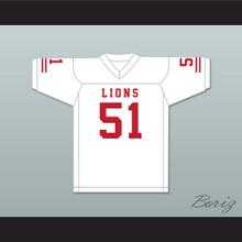 James Davis 51 EMCC Lions White Football Jersey