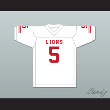 John Franklin 5 EMCC Lions White Football Jersey