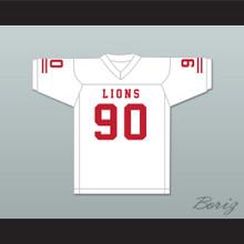 Ronald Ollie 90 EMCC Lions White Football Jersey