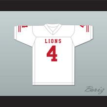 Wyatt Roberts 4 EMCC Lions White Football Jersey
