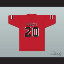 CJ Reavis 20 EMCC Lions Red Football Jersey