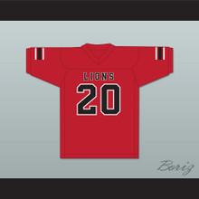 CJ Reavis 20 EMCC Lions Red Football Jersey