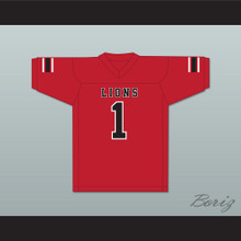 DJ Law 1 EMCC Lions Red Football Jersey