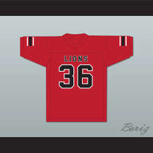 Javarius Taylor 36 EMCC Lions Red Football Jersey