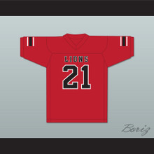 Ryan Lee 21 EMCC Lions Red Football Jersey