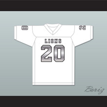 CJ Reavis 20 EMCC Lions White Alternate Football Jersey