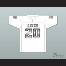 CJ Reavis 20 EMCC Lions White Alternate Football Jersey