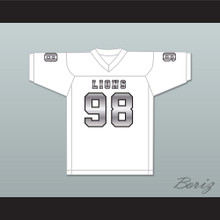 Gary McCrae 98 EMCC Lions White Alternate Football Jersey