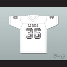 Javarius Taylor 36 EMCC Lions White Alternate Football Jersey