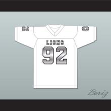 Marcel Andry 92 EMCC Lions White Alternate Football Jersey
