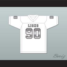 Ronald Ollie 90 EMCC Lions White Alternate Football Jersey