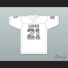 Ryan Lee 21 EMCC Lions White Alternate Football Jersey