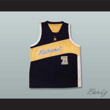 Tupac Shakur 71 Makaveli Black and Yellow Basketball Jersey