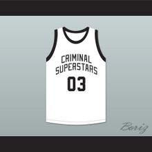 Bonnie & Clyde Criminal Superstars Bonnie 03 White Basketball Jersey