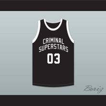 Bonnie & Clyde Criminal Superstars Bonnie 03 Black Basketball Jersey