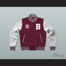 Beacon Hills Maroon Varsity Letterman Jacket-Style Sweatshirt Teen Wolf