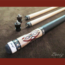 Boriz Billiards Pro Series 3 Black Leather Grip w/ Pool Cue Joint Protectors