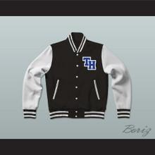 Nathan Scott One Tree Hill Ravens Black Varsity Letterman Jacket-Style Sweatshirt