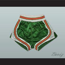 Green-Orange-White Retro Style Basketball Shorts
