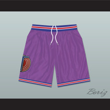 Michael Jordan Space Jam Tune Squad Basketball Shorts Purple