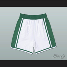 White and Green Basketball Shorts