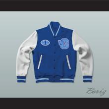 Varsity Blues West Canaan Coyotes Football Letterman Jacket-Style Sweatshirt