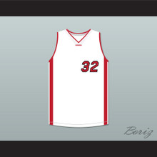 Shaquille O'Neal 32 White Basketball Jersey Scary Movie 4