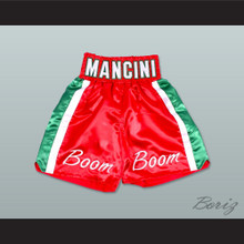 Ray 'Boom Boom' Mancini Red Boxing Shorts