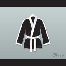 Clubber Lang World Heavyweight Champ Black Satin Half Boxing Robe